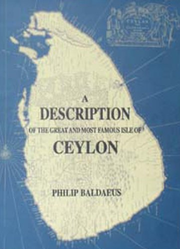 9788120611726: Description of the Great and Most Famous Isle of Ceylon