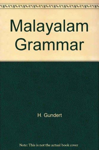 9788120612501: Malayalam Grammar