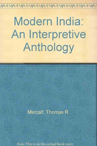 9788120709003: Modern India: An Interpretive Anthology