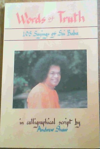 9788120719057: Words of Truth: 108 Sayings of Sai Baba