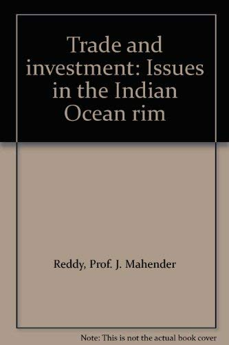 Trade and investment: Issues in the Indian: J. Mahender Reddy,