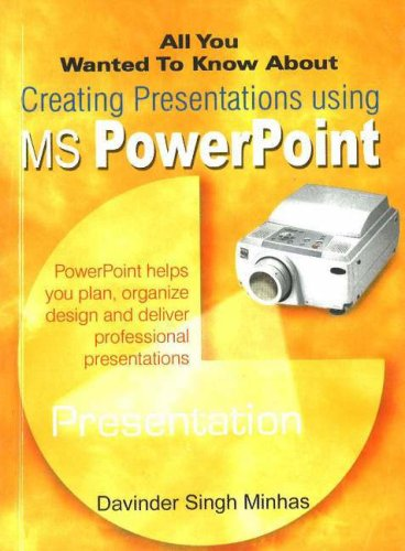 All You Wanted to Know About Creating Presentations Using MS PowerPoint (All You Wanted to Know ...