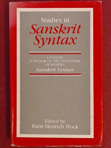 9788120808379: Studies in Sanskrit Syntax