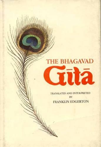 Bhagavad Gita, 2 volumes Bound in One: Franklin Edgerton