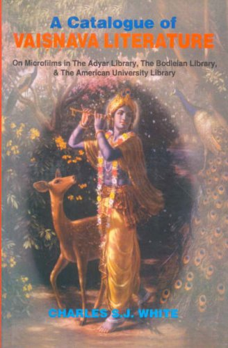 9788120820678: A Catalogue of Vaishnava Literature: On Micrifilms in The Adyar Library, The Bodleian Library & The American University Library