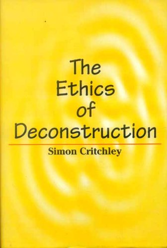 9788120827646: The Ethics of Deconstruction
