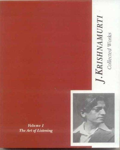9788120832411: Collected Works of J. Krishnamurti: v. 1: The Art of Listening 1933-1934