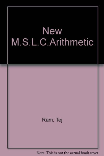 9788120907973: New M.S.L.C.Arithmetic