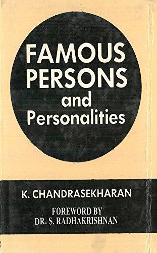 Famous Persons and Personalities: K. Chandrasekharan, Forward