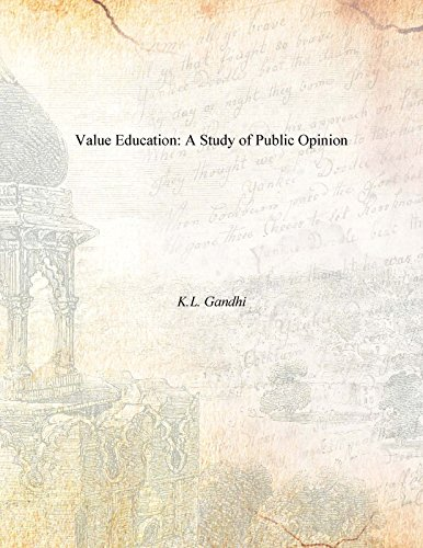 9788121212632: Value Education: A Study Of Public Opinion
