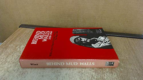 9788121506090: Behind Mud Walls 1930-1960