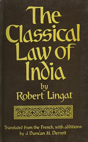 9788121506106: The Classical Law of India