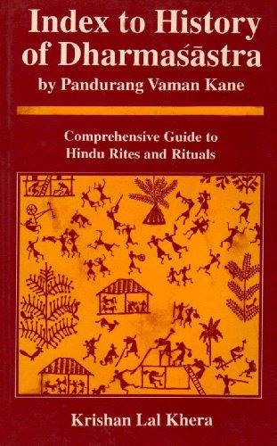 Index To History Of Dharmasastra: By Pandurang: Krishan Lal Khera