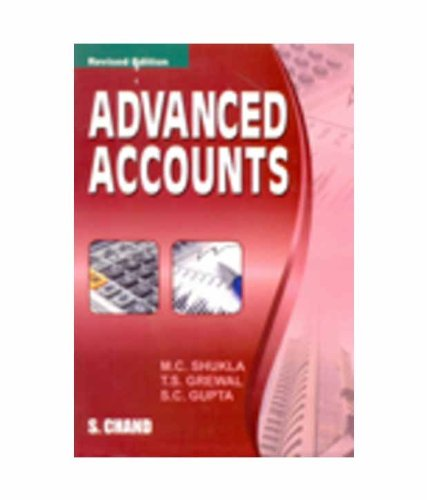 Advanced Accounts: Gupta S.C. Grewal