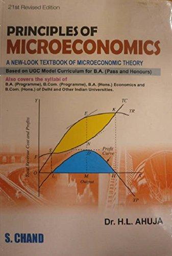 PRINCIPLE OF MICRO ECONOMICS: H.L.AHUJA,