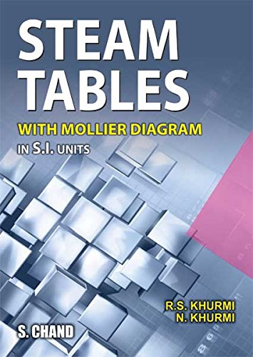Steam Tables: With Mollier Diagram in S.I.Units: R.S. Khurm