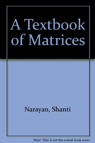 9788121906876: A Textbook of Matrices