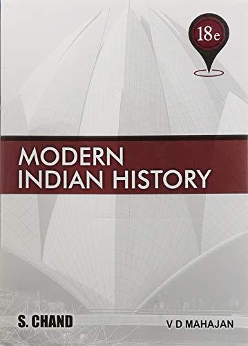 Modern Indian History: From 1707 to the: V.D. Mahajan