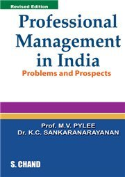 9788121917728: Professional Management in India : Problems and Prospects