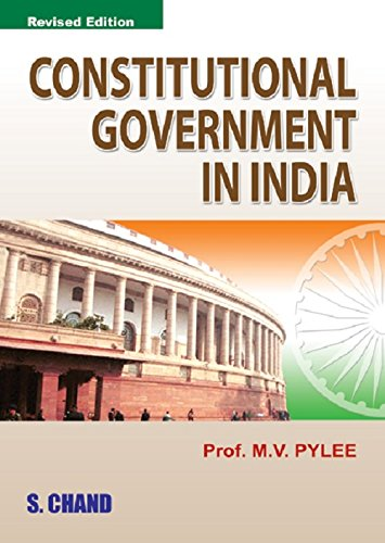 9788121922036: Constitutional Government in India