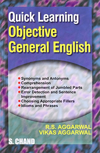 Quick Learning Objective General English: Vikas Aggarwal,Dr. R.S. Aggarwal