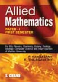 Allied Mathematics: Thilagavathy K. Kandasamy
