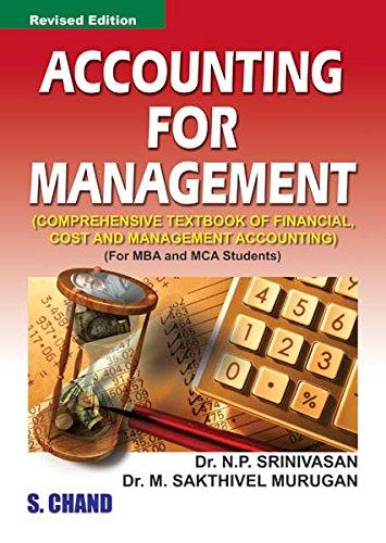 Accounting for Management, (Revised Edition): M. Sakthivel Murugan,N.P. Srinivasan