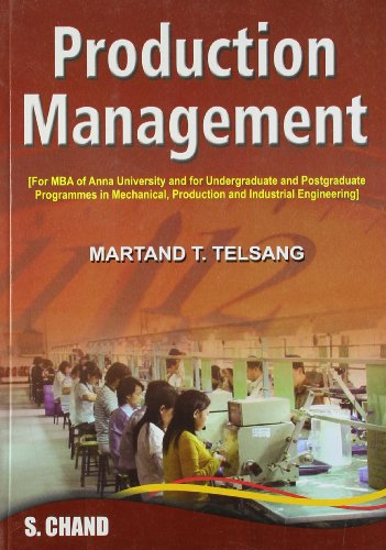 Production Management: Martand T. Telsang