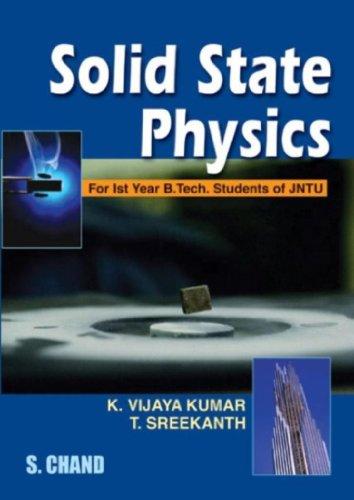 Solid State Physics (1 St Year B.Tech.: T Sreekanth