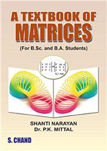A TEXT BOOK OF MATRICES FOR B.SC: NARAYAN