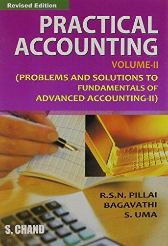 The Practical Accounting, Vol. II: Uma S. Bagavathi