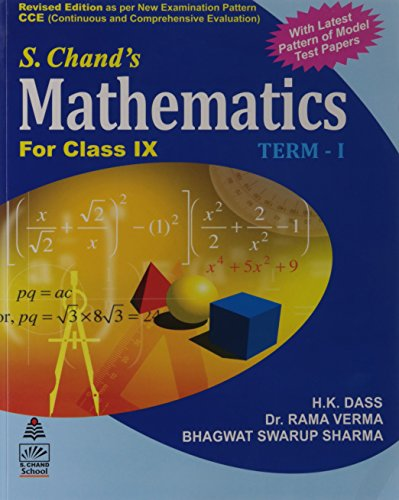 S.CHAND'S MATHEMATICS FOR CLASS IX (TERM-1): BHAGWAT SWARUP SHARMA,H
