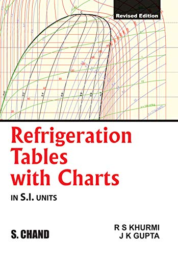 Refrigeration Tables With Charts Si Units Revised Edition By Jk