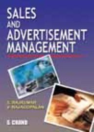 Sales and Advertisement Management: S. Rajkumar,V. Rajgopalan