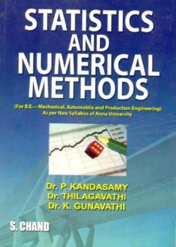 Statistical and Numerical Methods: Thilagavathi K. Gunavathi