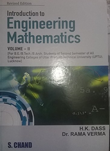 INTRODUCTION TO ENGINEERING MATHS - II(MMTU,GBTU): H K DASS,