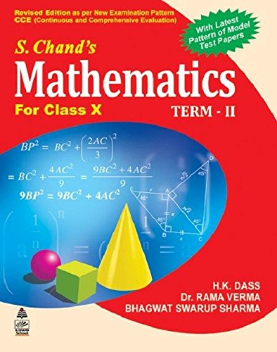 9788121937054: S. Chand's Mathematics For Class X (Term II)