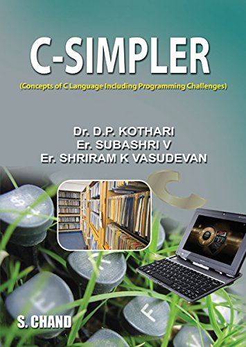 C-Simpler (Concepts Of C Language Including Programming: Er. Shriram K