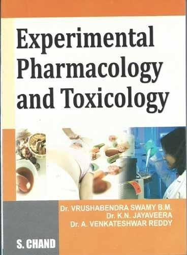 Experimental Pharmacology and Toxicology: Reddy A. Venkateshwar