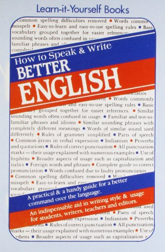 9788122200010: How to Speak and Write Better English