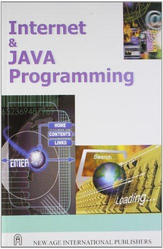 Internet and Java Programming: R. Krishnamoorthy,S. Prabhu