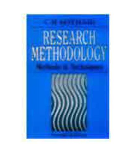 Research Methodology: Methods and Techniques: C.R. Kothari