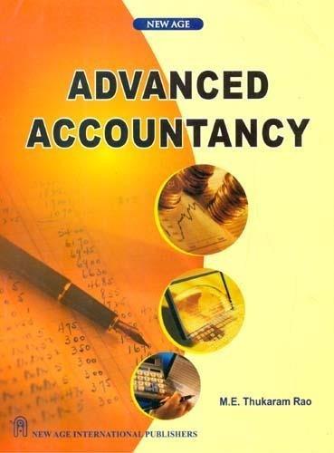 Advanced Accountancy: Thukaram Rao, M.E.