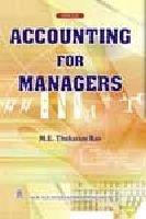 Accounting for Managers: Thukaram Rao, M.E.