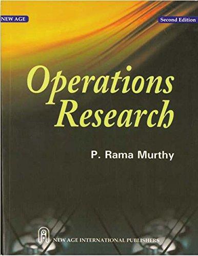 Operations Research (Linear Programming): Ramamurthy, P.