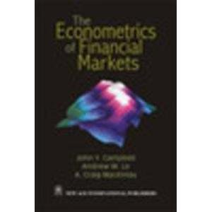 9788122421699: The Econometrics of Financial Markets