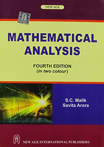 Mathematical Analysis: S. C. Malik,