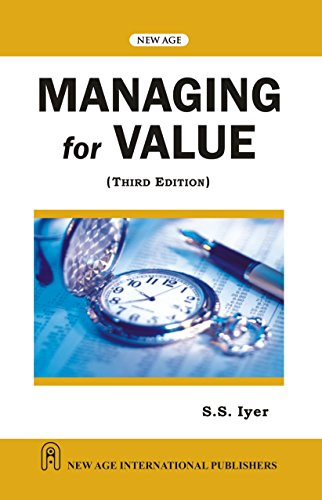 9788122422146: Managing for Value