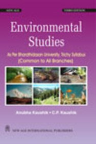 Environmental Studies: As Per Bharathidasan University, Trichy: Anubha Kaushik,C.P. Kaushik