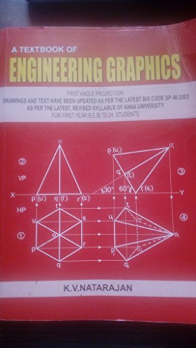 A Textbook Of Engineering Graphics, First Edition: Venugopal, K.
